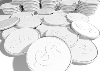 Digital rendering of coins.